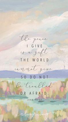 Peace I Give Lock Screen – C. Brooke Ring - Free Scripture Lock Screen - Wallpaper for iPhone - Freebie