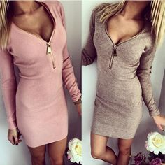 6.98$  Watch now - 2017 Summer Autumn Dress Thread Thoracotomy Women Dress Vintage Casual Sexy Bodycon Dress Pink Bandage Dress Ropa Mujer Vestidos   #magazine