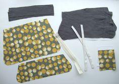 Como hacer un bolso de mano con tela plisada