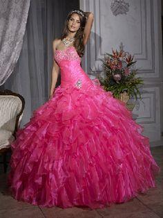 pink wedding gowns | Heart Wedding Dress: Hot Pink Wedding Dress