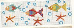 Pesci E Stelle Baby Cross Stitch Patterns, Cross Stitch Baby, Cross Stitch Alphabet, Cross Stitch Designs, Cross Stitch Angels, Cross Stitch Bookmarks, Cross Stitch Embroidery, Baby Cardigan Knitting Pattern Free, Knitting Charts