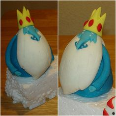 Adventure Time: Ice King Topper  #handmade #caketopper #fondant #cake #adventuretime #iceking