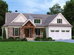 086H-0102: Country Mountain House Plan Craftsman Style House Plans, Country House Plans, Craftsman Ranch, Mountain House Plans, Large Family Rooms, Floor Layout, Best House Plans, Build Your Dream Home, New Homes