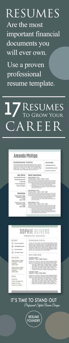 Professional Resume Template - the Amelia - most professional resume template