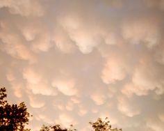 Mammatas Clouds just before sunset in Iowa, Summer 2011