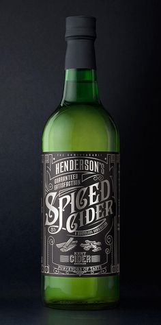 cider packaging - Henderson's Cider #package #packaging #design #branding #cool #awesome