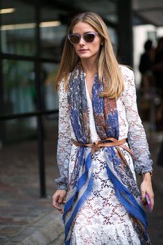 London Fashion Week Street Style Spring 2015 - the belted scarf: would you wear it? Harper's BAZAAR