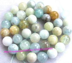 Natural Aquamarine Round Gemstone Beads 15 5'' 4mm 6mm 8mm 10mm 12mm 14mm 16mm   eBay