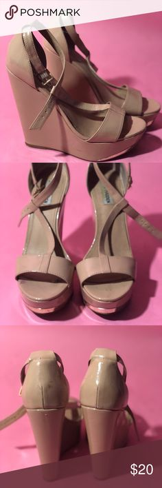 Steve Madden Xtrime Blush patent leather wedges. Light signs of wear. Make me an offer :) Steve Madden Shoes Wedges