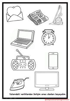 Medios de comunicacion Kindergarten Coloring Pages, Preschool Learning, Kindergarten Worksheets, Coloring Pages For Kids, Preschool Crafts, Home Learning, Means Of Communication, Media Communication, Alphabet Activities