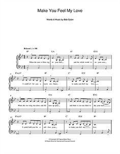 Adele: Make You Feel My Love - Piano Sheet Music