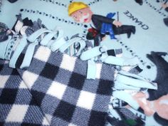 Monopoly Love Knot Blanket  Mint green  & black plaid by tobeesgifts, $28.95