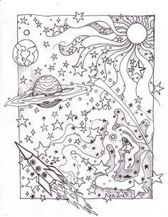 Coloring Space Page by usedfreak88.deviantart.com on @deviantART