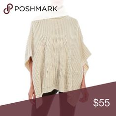 Steve Madden Ivory Knit Poncho Sweater Brand new with tags! One size fits most. I will add more details and pics soon! Steve Madden Sweaters Shrugs & Ponchos