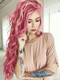 30 Best Rose Pink Hair Looks - Rose Pink Hair Color Trend The Effective Pictures We Offer You About Beauty - Rose Pink Hair, Hair Color Pink, Pastel Hair, Cool Hair Color, Pastel Pink, Ombre Color, Pretty Pastel, Bright Pink Hair, Bright Coloured Hair