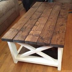 34 Perfect Diy Rustic Coffee Table Design Ideas And Remodel. If you are looking for Diy Rustic Coffee Table Design Ideas And Remodel, You come to the right place. Here are the Diy Rustic Coffee Table. Coffee Table Design, Rustic Coffee Tables, Diy Coffee Table, Farm Tables, Farm House Coffee Table Diy, Unfinished Coffee Table, Coffee Table Plans, Coffee Tin, Rustic Table
