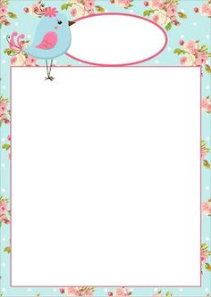 Discover recipes, home ideas, style inspiration and other ideas to try. Borders For Paper, Borders And Frames, Flower Background Wallpaper, Paper Background, Paper Box Template, Shabby Chic Theme, Preschool Colors, Bird Party, Baby Journal