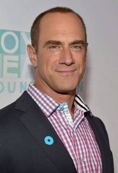 Actor Christopher Meloni wearing #RobertGraham at The Joyful Heart Foundation Presents: JoyROCKS to celebrate the NO MORE PSA Launch event.