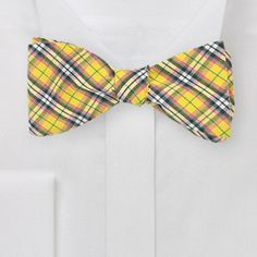 Yellow Plaid Bow Tie from Bows N' Ties