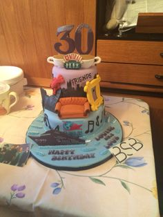 30th Party Boy Birthday Parties Cake Ideas 80s Theme