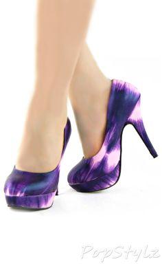 Tie Dye Platform Stilettos