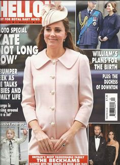 Hello magazine Kate Middleton Prince William David Victoria Beckham The Queen