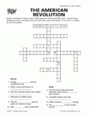 American revolution crossword pdf