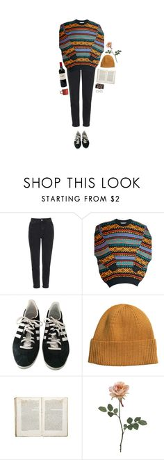 """""""heavy-hearted trouble"""" by hetasdfghjkl ❤ liked on Polyvore featuring Topshop, Mark McNairy New Amsterdam, adidas, H&M and Jayson Home"""