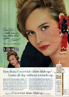 Beauty Ad, Beauty Products, Cover Girl Makeup, Makeup Ads, Vintage Beauty, Covergirl, Retro Vintage, Crochet Earrings, Make Up
