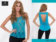 El encaje y las transparencias te dan feminidad y un look formal. Conoce el precio de esta blusa, dando clic en el siguiente link  http://bonabella.com.co/producto/blusa-20731-2/k
