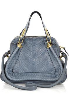Chloe blue python bag