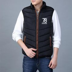 Promotion price Men's Sleeveless Vests Jackets 2017 New Winter Men Duck Down Jacket Vest Fashion Male Warm Vest Masculine Waistcoat For Men 3028 just only $18.76 with free shipping worldwide  #jacketscoatsformen Plese click on picture to see our special price for you