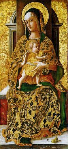 Carlo Crivelli (Italian artist, c 1430-1495) Madonna and Child 1470