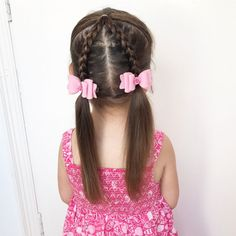 """157 curtidas, 20 comentários - Leanne Forrest (@3_little_girls_hair_) no Instagram: """"A style I've seen on @tinkerbeanpoplettes_hairdesign account , super cute and I love doing it in…"""""""