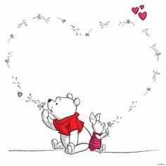 Pooh and piglet Pooh and piglet – Disney Crafts Ideas Winnie The Pooh Tattoos, Winnie The Pooh Quotes, Winnie The Pooh Friends, Winnie The Pooh Drawing, Disney Winnie The Pooh, Piglet Quotes, Piglet Winnie The Pooh, Winnie The Pooh Pictures, Eeyore