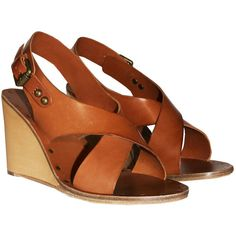 Ash Texas Sling Back Leather Wedge