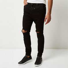 Black distressed joggers - jogger jeans - jeans - men