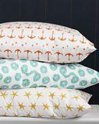 New bedding - orange anchors