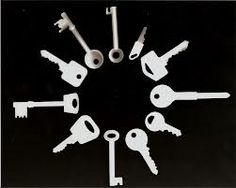 Circle of keys - photogram