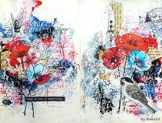 My journey through the Scrapbookworld...: Art Journaling YouTube Hop