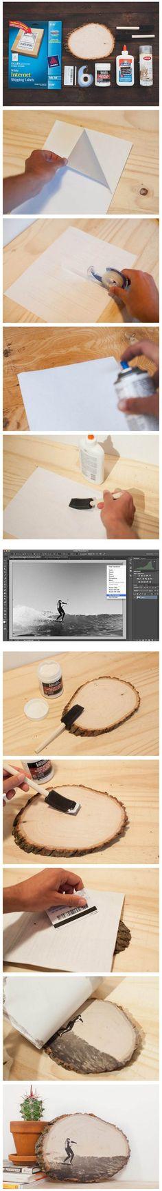 ¿Cómo transferir diseños de tinta a superficies de madera? - Muy Ingenioso                                                                                                                                                                                 Más