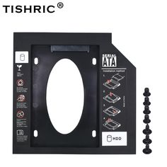 Tishric New Plastic Optibay Second Hdd Caddy Sata For Ssd Dvd Cd-Rom Enclosure Adapter Hard Disk Drive Case Hard Drive Caddy, Hard Disk Drive, Hdd, Plastic, Mobile Accessories, Accessories Store, Electronics Gadgets, Tech Gadgets, Free Shipping