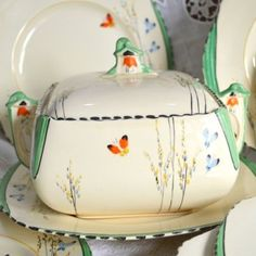 Art-Deco-Burleigh-Ware-Imperial-Lidded-Tureen-Butterfly-and-Bell-Flowers-5090