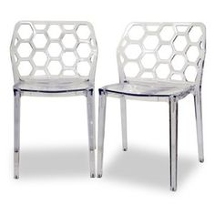 Baxton Studio Honeycomb Dining Chair - Set of 2