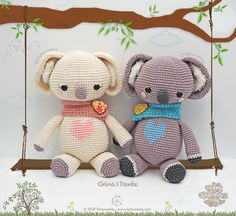 Amigurumi Pattern: St. Valentine's Koalas - Gina & Dante