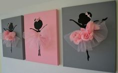ideas for baby room pink tutus Diy And Crafts, Crafts For Kids, Arts And Crafts, Paper Crafts, Canvas Crafts, Tulle Decorations, Little Girl Rooms, Kids Decor, Cute Gifts