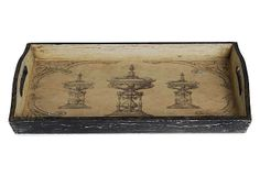 Asst. of 3 Antiqued Printed Trays on OneKingsLane.com
