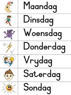 KraftiMama, Dae van die Week, Afrikaans Verniet Printables Grade R Worksheets, Printable Preschool Worksheets, Printables, Teaching Letter Recognition, Teaching Letters, Quotes Dream, Life Quotes Love, Robert Kiyosaki, Napoleon Hill