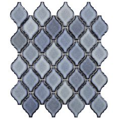 Arabesque Porcelain Mosaic Tile in Orion (Set of 10)