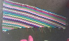 Scrap afghan wip love the colours